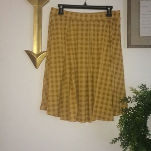LuLaRoe plaid a-line skirt with pockets
